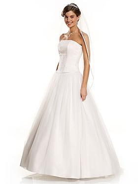 Zweiteiliges Brautkleid Satincorsage Und Tullrock
