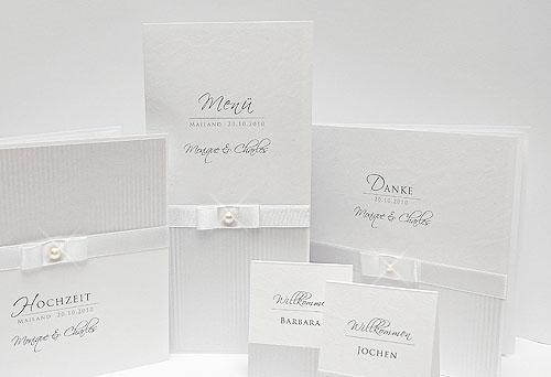 Hochzeitseinladung schlicht und elegant