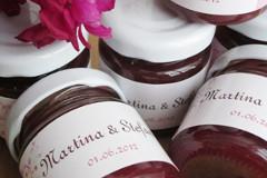 individuelle marmelade als gastgeschenk zur hochzeit oder als hochzeitsgeschenk. Black Bedroom Furniture Sets. Home Design Ideas