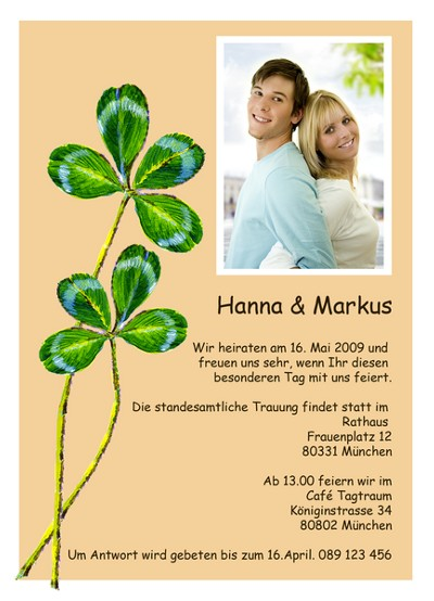 Pics Photos - Einladungskarten Fuer Die Hochzeit In Riesiger Auswahl ...